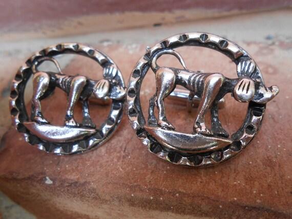 Vintage Dog Cufflinks.  Wedding, Men's, Groomsmen Gift, Dad. CUSTOM ORDERS Welcome