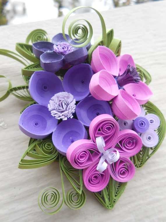 Bridal Hair Piece. CHOOSE YOUR COLORS. Wedding , Quilled Paper Flowers. Bridesmaid.