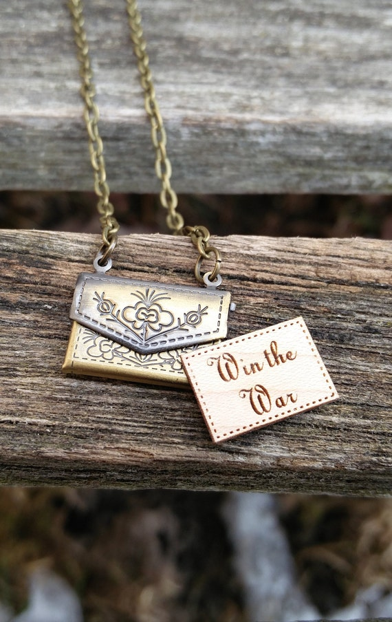 Personalized Envelope Locket Necklace. CHOOSE YOUR WORDS. Wedding, Groom Gift, Anniversary, Birthday, Valentine.