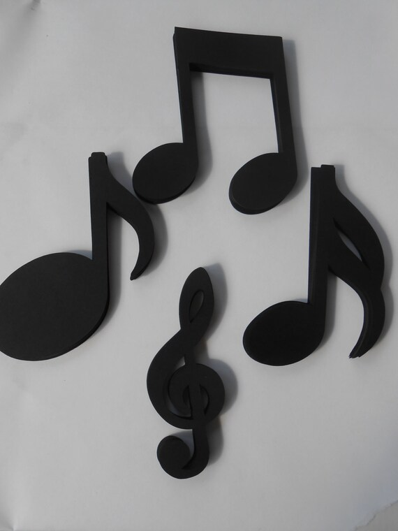 60 Music Shapes. 4 inch. CHOOSE YOUR COLORS. Custom Orders Welcome. Weddings, Favor, Wishing Tree, Escort, Gift, Table.
