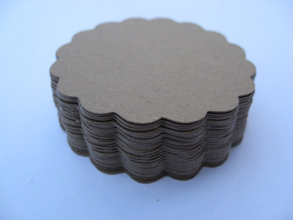 Scalloped Circles. Choose your amount & size. Wedding, Gift, Scrapbooking, Favor, Cupcake, Top Notes. Tag, Garland..