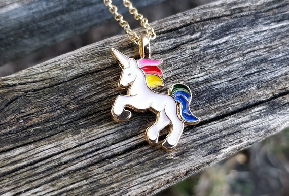 Rainbow Unicorn Necklace. Gift For Girls, Mom, Wedding, Bridesmaids, Anniversary, Birthday, Christmas. My Little Pony