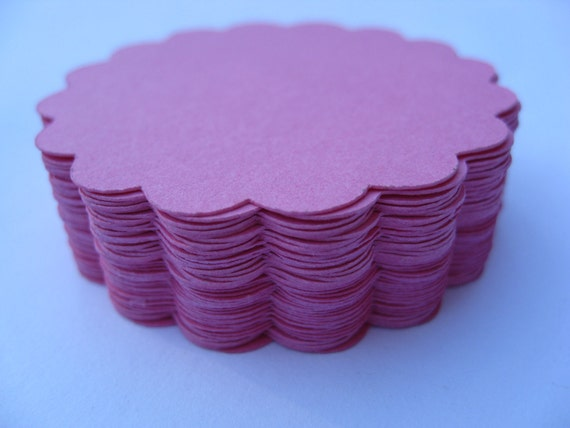 Scalloped Circles. Choose your amount and Size. Weddings, Escort Cards, Favor Tags, Garlands, Wishing Tree, Birthday.