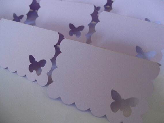 100 Butterfly Place Cards. CHOOSE YOUR COLORS.  Lavender. Weddings, Escort, Table Cards.
