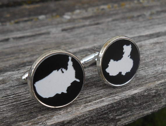 His & Hers Country Cufflinks. State Cufflinks. Wedding, Men's, Groomsmen Gift, Dad. Custom Orders Welcome. USA, China