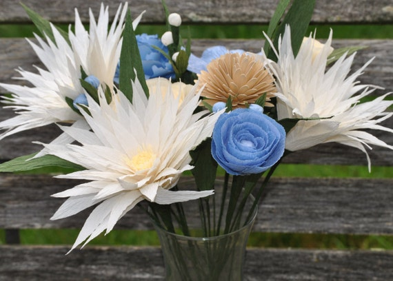 Custom Paper Bouquet. Paper Flowers. Perfect for First Anniversary, Weddings, Birthdays. Unique Gift.