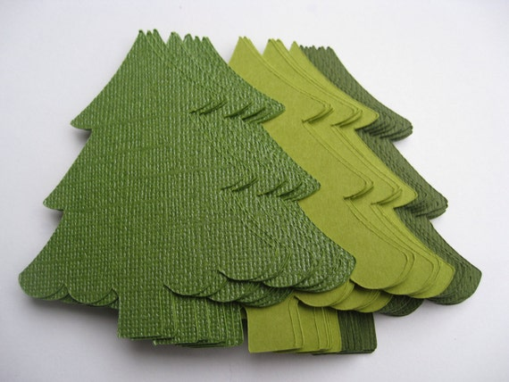 50 Christmas Trees. CHOOSE SIZE & COLORS. Custom Orders Welcome. Tags, Decoration, Holiday. 2 to 10 Inch