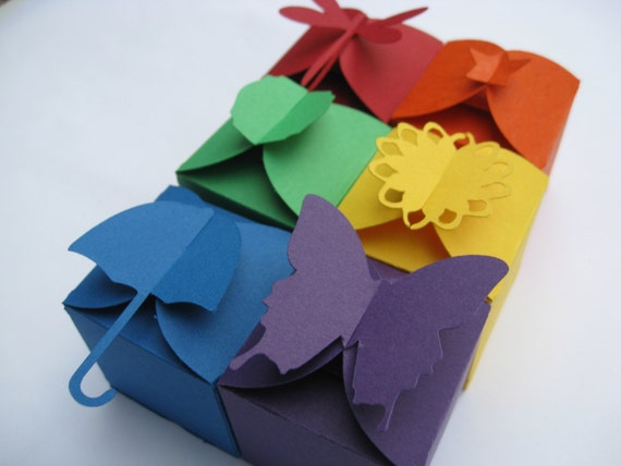 50 Favor Boxes. You CHOOSE The BOX & COLORS. 2 Inch. Many Different Styles. Custom Orders Welcome.