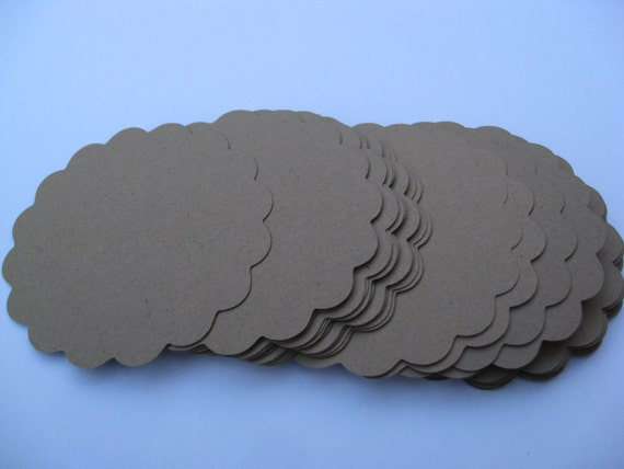100 Scalloped Circles. 1 inch. Wedding, Gift, Scrapbooking, Favor, Cupcake, Top Notes. CHOOSE Your COLOR.