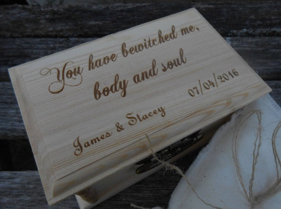 You Have Bewitched Me Body & Soul Ring Box. CHOOSE YOUR PILLOW Style! Mr. Darcy, Proposal, Wedding, Pride And Prejudice. Austen