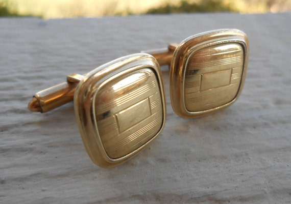 Vintage Gold Filled Cufflinks. Wedding, Men's, Father's Day, Christmas Gift, Valentine, Anniversary Gift, Dad.