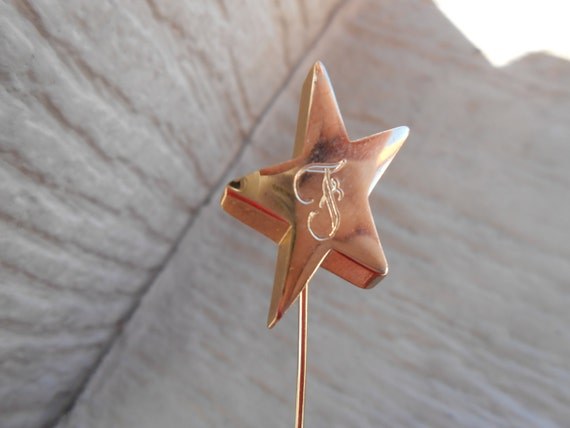 Vintage F Star Pin. Hat Pin, Women, Groomsmen, Anniversary, Men's Gift. Wedding. Monogram