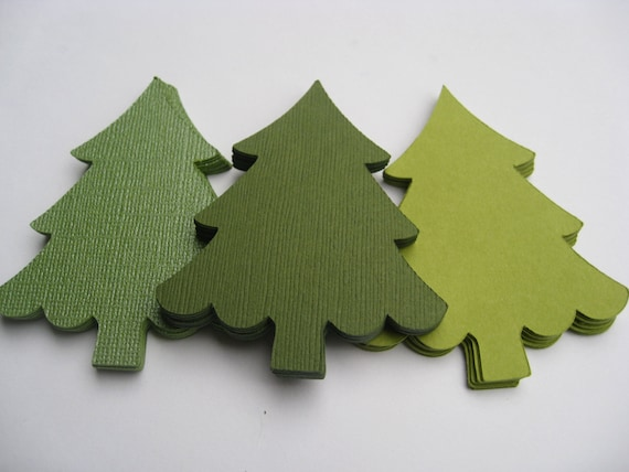 50 Christmas Trees. CHOOSE SIZE & COLORS. Custom Orders Welcome. 2 to 10 Inch.