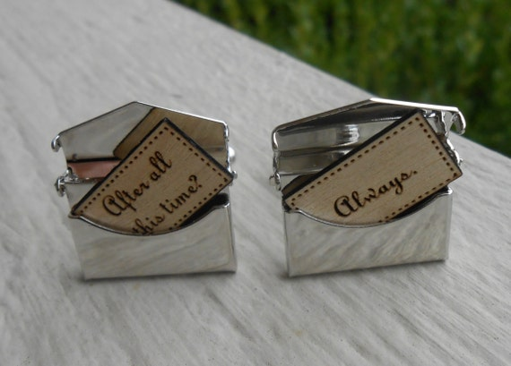 Personalized Envelope Cufflinks. Choose Your Words!! Wedding, Men, Groom Gift, Anniversary, Birthday.