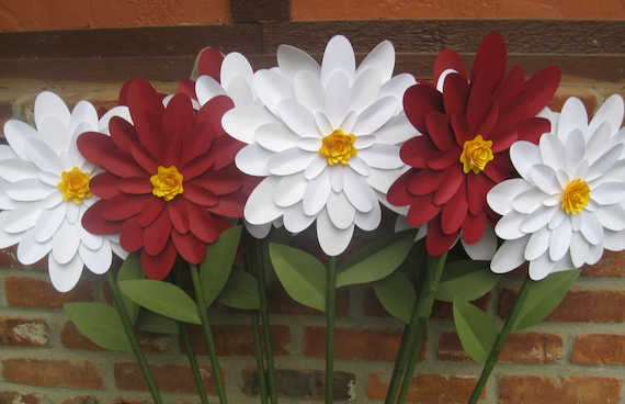 Huge Gerber Daisy Decorations, CHOOSE YOUR COLORS. Wedding Decoration.  Aisle Decor, Outdoor Garden. Custom Orders Welcome.