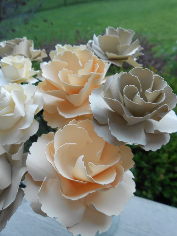 Dozen Wild Roses, CHOOSE YOUR COLORS!! Wedding, Paper Flower Bouquet, Gift, Centerpiece. Valentine's Day, Anniversary.