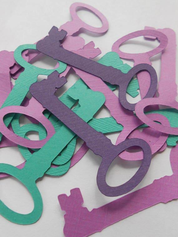 100 Skeleton Keys. 4.5 inch. CHOOSE YOUR COLORS. Decoration, Escort Cards, Wedding, Wishing Tree, Cards