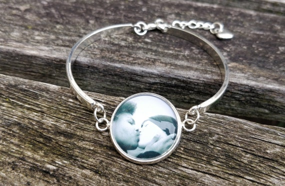 Custom Photo Bracelet.  Personalized Bracelet.  Wedding,  Anniversary, Christmas Gift, Birthday, Custom Bracelet