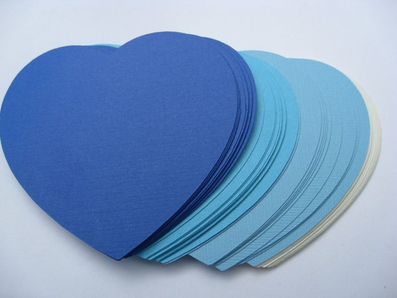 100 Hearts. CHOOSE YOUR COLORS. 3 inch. Wedding, Escort Cards, Tags, Wishing Tree. Custom Orders Welcome.