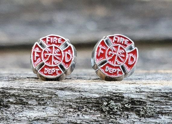 Fire Department Earrings. Maltese Cross Earrings. Wedding Gift, Bridesmaid Gift, Gift For Mom, Anniversary Gift. Post Earrings