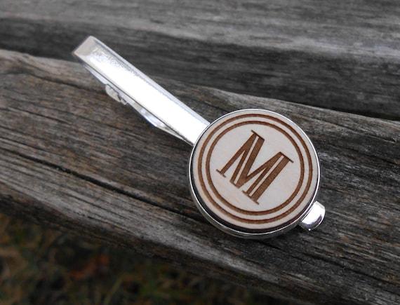 Custom Monogram Tie Clip. CHOOSE YOUR LETTER!! Laser Engraved. Wedding, Men's, Groomsmen Gift, Dad. Custom Orders Welcome.