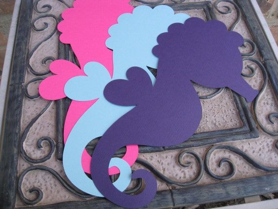 12 Seahorses. 10.5 Inch. CHOOSE YOUR COLORS. Custom Orders Welcome.