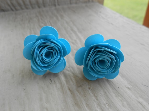 Paper Flower Cufflinks. CHOOSE YOUR COLORS!  Wedding, Groomsmen, Men's Christmas Gift, Dad. Silver Plated.