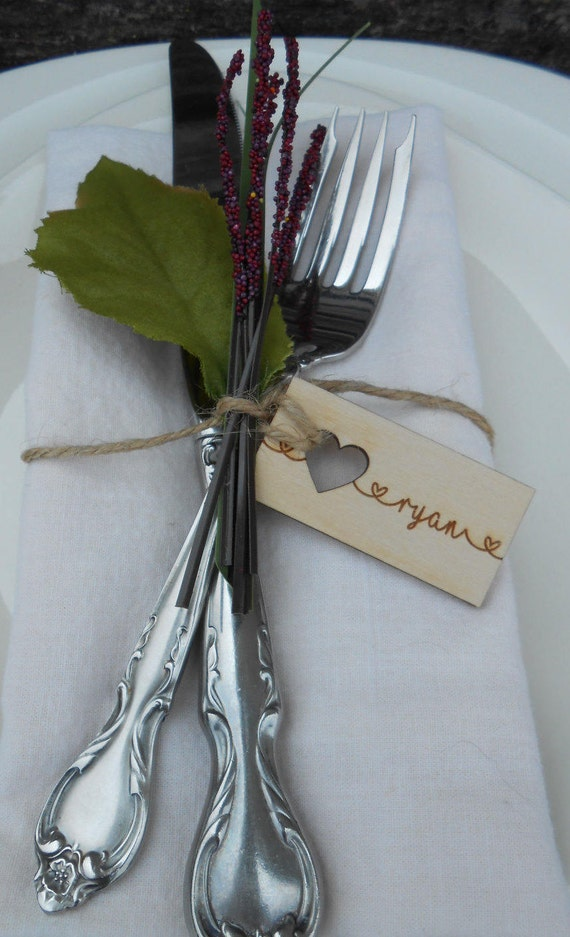 75 Custom Wedding Place Cards, Escort Cards. Rustic Name Tags, Laser Engraved Wood. CHOOSE YOUR SIZE. Custom Orders Welcome