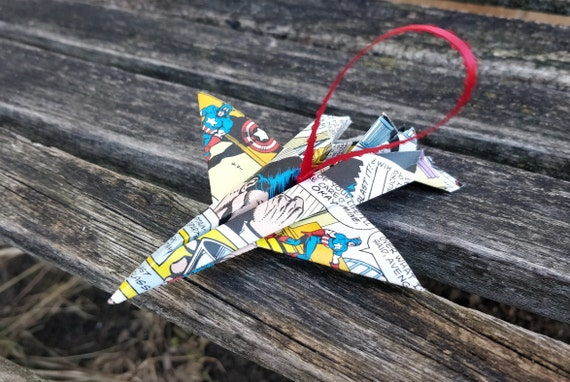 Comic Airplane Ornament. F-16 Ornament. Holiday, Christmas Decoration. Gifts For Kids. Birthday Favors.