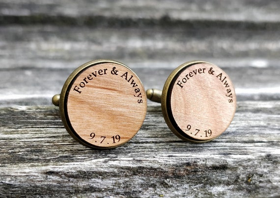 Personalized Cufflinks. Wedding, Groom Gift, Anniversary, Birthday, Groomsmen, Father's Day. Silver, Gold, Rose Gold, Gunmetal.