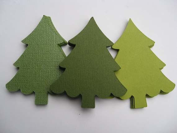 25 Christmas Trees. CHOOSE SIZE & COLORS. Custom Orders Welcome.  Tags, Holiday Decorations, Gift Labels, Huge Trees.