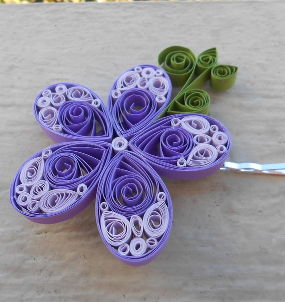 Purple Paper Hair Piece. Wedding , Bridal Hair Piece. Paper Flowers. Bride, Bridesmaid, Flower Girl. CUSTOM ORDERS Welcome.