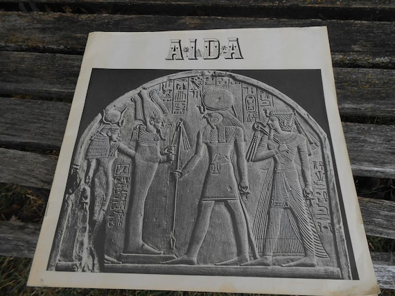 Vintage AIDA Opera Book. Verdi 1974 Record Book. Collectable, Music.