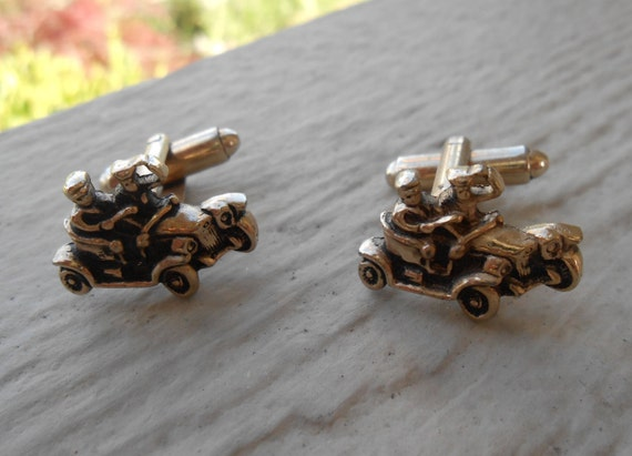 Vintage Car Cufflinks. Groom, Wedding, Men's Christmas Gift, Dad.  Gold Tone. Ford, Model T