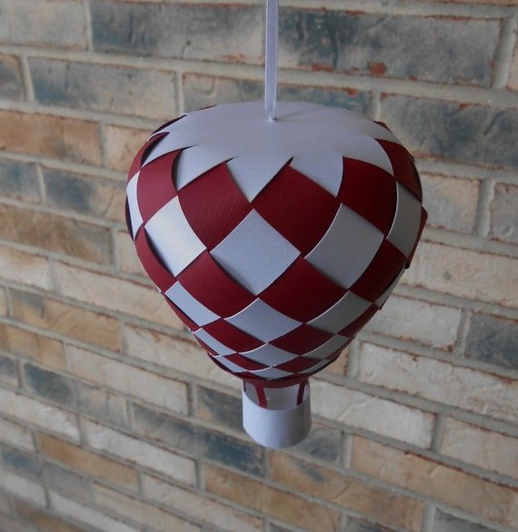 Hot Air Balloon. Choose Your Colors. 3D Paper. Kid's Room Decoration, Birthday Party, Baby Mobile.