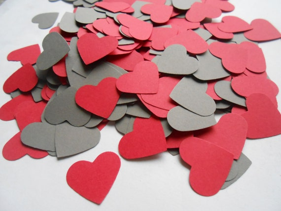 500 Heart Confetti. CHOOSE YOUR COLORS. 1 inch. Other Colors, Sizes And Amounts Available. Custom Orders Welcome.