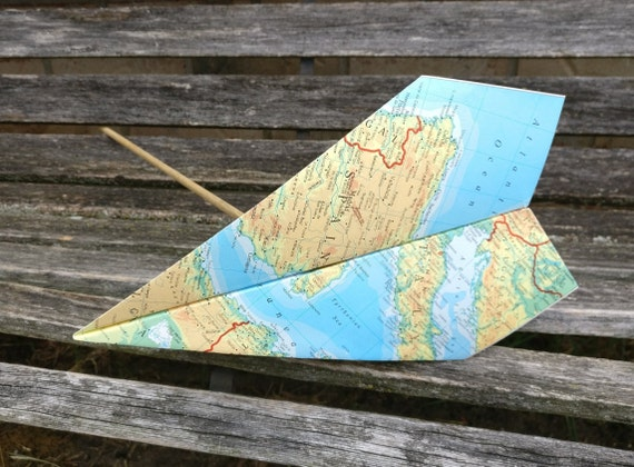 Paper Airplane Wand.  Wedding Decoration, Party, Birthday, Travel Wedding, Kids, Children, Fun Favor, Ring Bearer