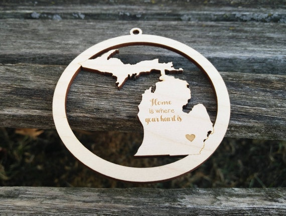 Custom State Ornament. YOUR CHOICE! Christmas Decoration, Gift. Mom, Dad, Tree. Michigan, Texas, Wisconsin, California