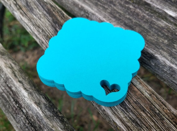 150 Heart Tags. 3 inch. CHOOSE YOUR COLORS. Weddings, Favor, Place Cards, Escort, Table.