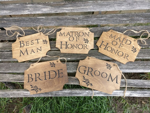 Rustic WEDDING SIGNS. Choose Your Amount!! Wood Signs. Chair, Wedding Decoration. Handpainted.