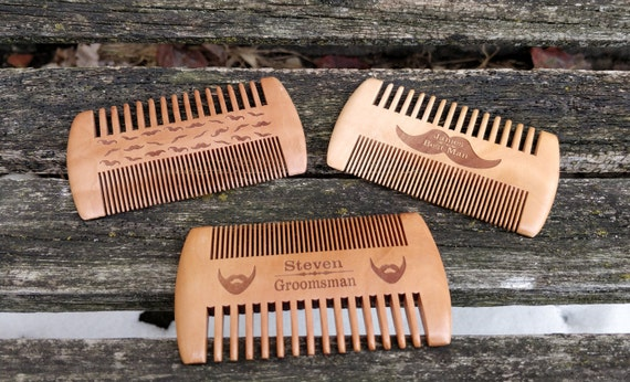 Personalized Beard Comb. Mustache Comb. Engraved. Wedding, Groomsmen Gift, Dad, Anniversary, Birthday, Christmas, Customized Gift
