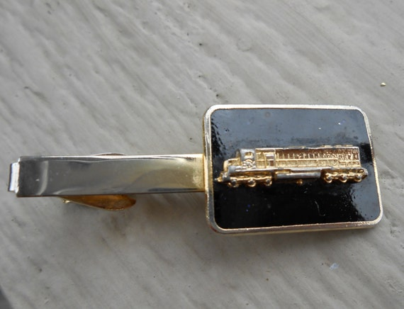 Vintage Train Tie Clip. Wedding, Men's Christmas Gift, Dad, Anniversary, Birthday.