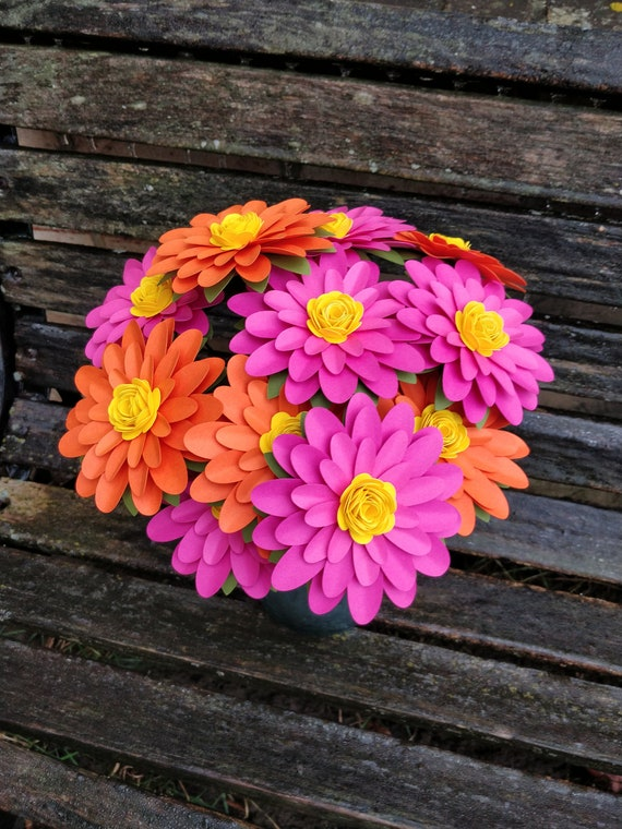 Gerber Daisy Paper Flower Bouquet. CHOOSE YOUR COLORS. Centerpiece, Wedding, Anniversary, Birthday, Mother's Day, Gift