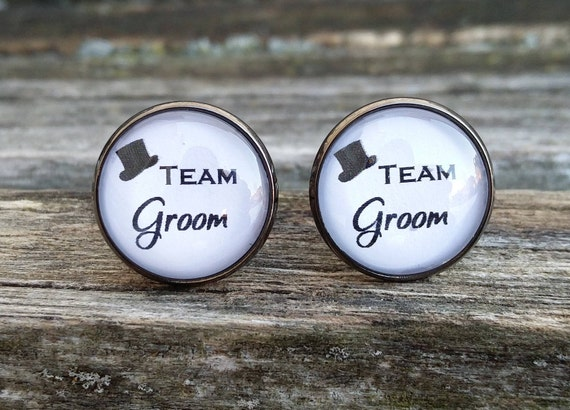 Team Groom Cufflinks. Wedding, Groomsmen Gift, Best Man, Father of the Bride, Groom