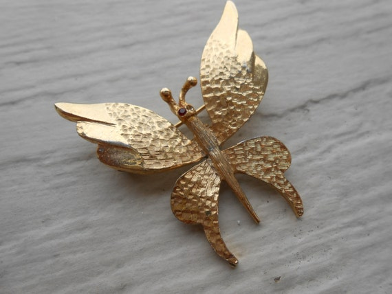 Sale: Vintage Butterfly Brooch, Made In Spain. 1960s Vintage. SALE