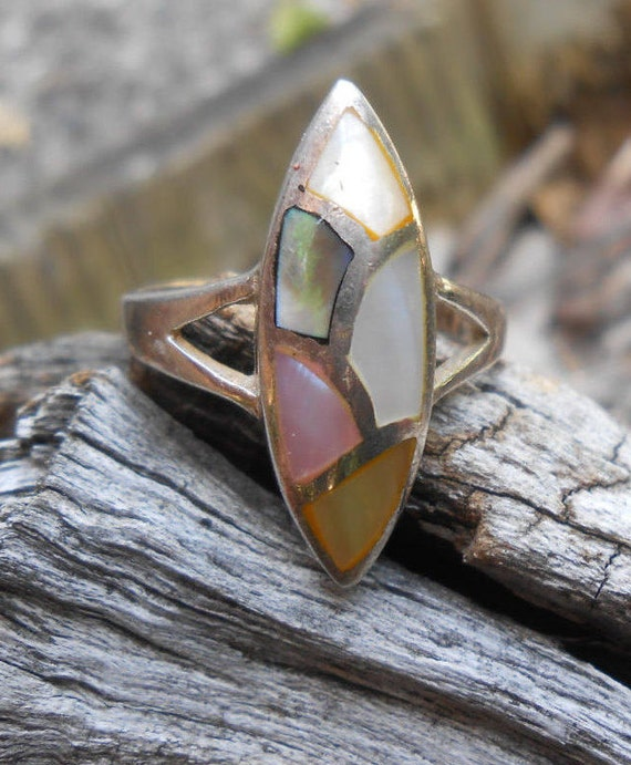 Vintage Sterling Silver Ring. Size 7.5. Anniversary, Birthday, Mom, Bridesmaid
