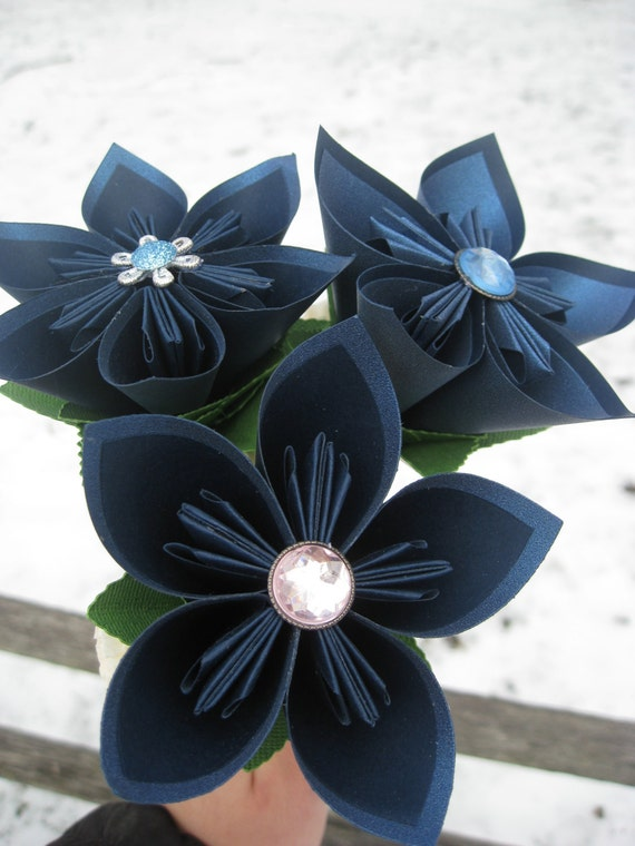 Kusudama Flower Girl Wands. CHOOSE YOUR COLORS. Paper Flower, Bridesmaid Flower. Custom Orders Welcome.