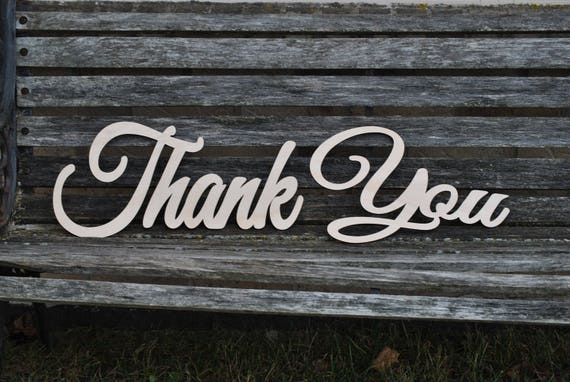 Thank You Wood Sign. Wedding Card, Decoration. Rustic. Custom, Personalized.
