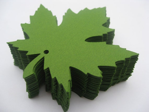 50 Maple Leaves, 4 inch. CHOOSE YOUR COLORS. Wedding, Escort Card, Wishing Tree Tags, Place Cards