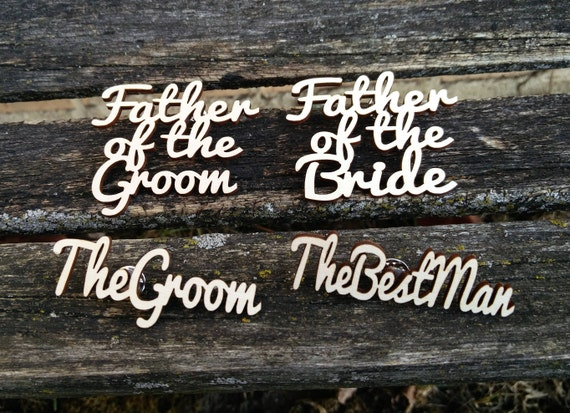 Laser Cut Boutonnieres.  Custom, Any Amount. Wedding, Event, Groom, Groomsmen, Usher, Father of the Bride, Pastor, Ring Bearer